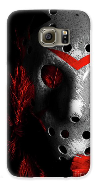 Hockey Galaxy S6 Case - Black Friday The 13th  by Jorgo Photography - Wall Art Gallery