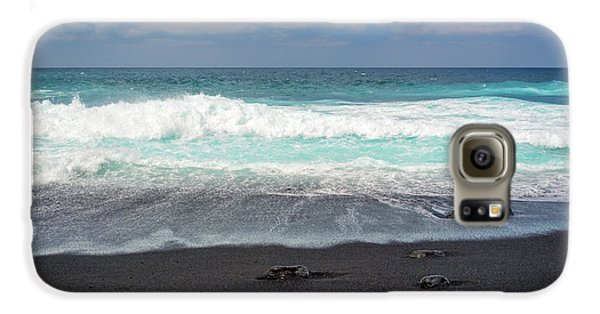 Canary Galaxy S6 Case - Black Sand Beach by Delphimages Photo Creations