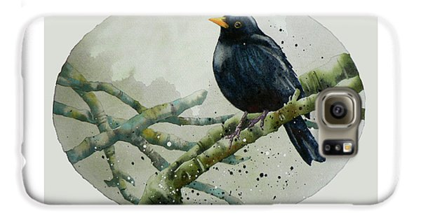 Blackbird Painting Galaxy S6 Case by Alison Fennell