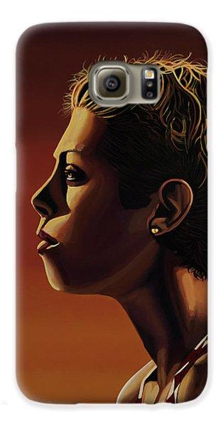 Blanka Vlasic Painting Galaxy S6 Case by Paul Meijering