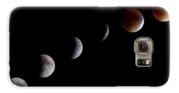 Blood Moon Lunar Eclipse Galaxy S6 Case