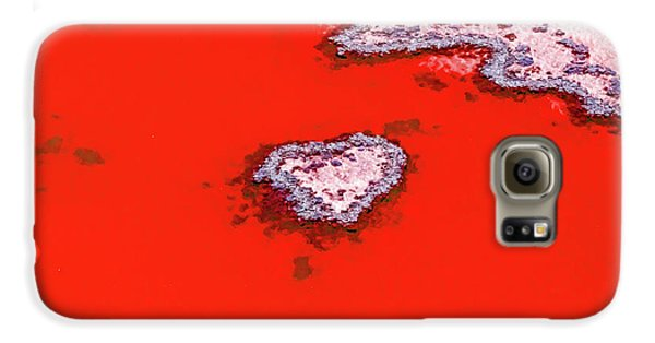 Helicopter Galaxy S6 Case - Blood Red Heart Reef by Az Jackson