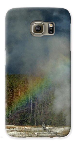 Blow Hole Rainbow Galaxy S6 Case