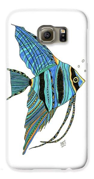 Blue Anglefish Galaxy S6 Case