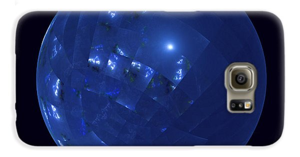 Blue Big Sphere With Squares Galaxy S6 Case