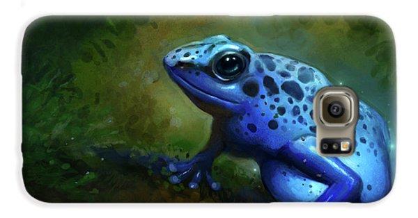 Amphibians Galaxy S6 Case - Blue Frog by Caroline Jamhour