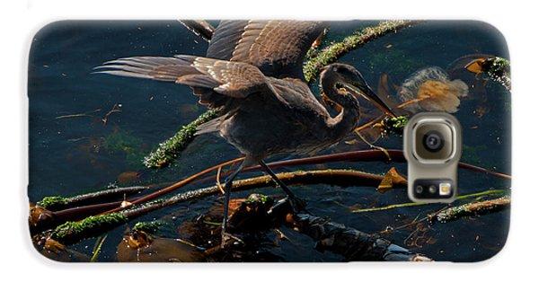 Blue Heron Fishing Galaxy S6 Case