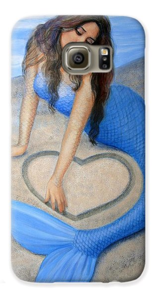 Blue Mermaid's Heart Galaxy S6 Case