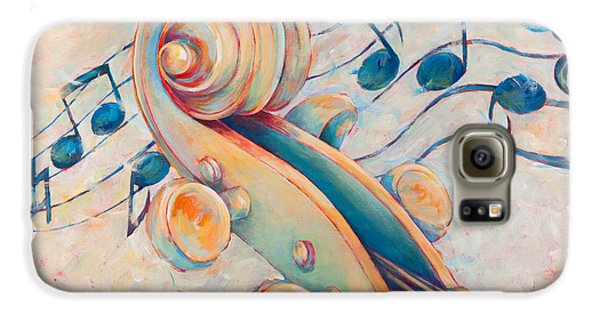 Violin Galaxy S6 Case - Blue Notes by Susanne Clark