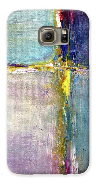 Galaxy S6 Case featuring the painting Blue Quarters by Nancy Merkle