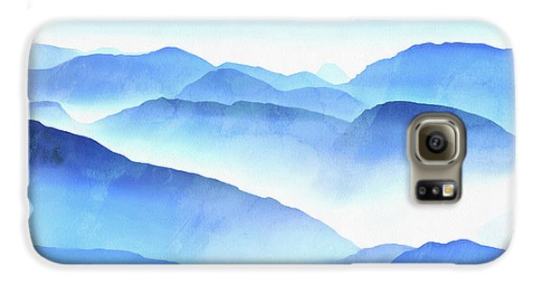 Blue Galaxy S6 Case - Blue Ridge Mountains by Edward Fielding