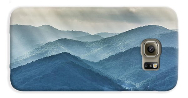 Blue Ridge Sunset Rays Galaxy S6 Case
