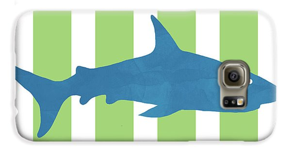 Hammerhead Shark Galaxy S6 Case -  Blue Shark 2- Art By Linda Woods by Linda Woods