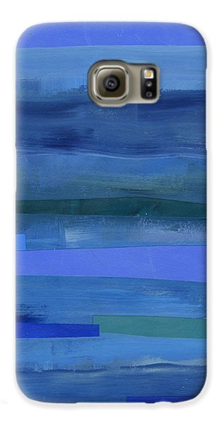 Blue Stripes 1 Galaxy S6 Case by Jane Davies