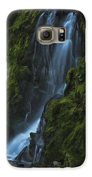 Galaxy S6 Case featuring the photograph Blue Waterfall by Yulia Kazansky