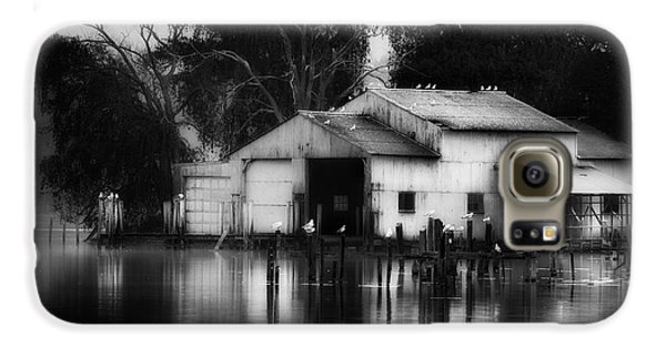 Galaxy S6 Case featuring the photograph Boathouse Bw by Bill Wakeley