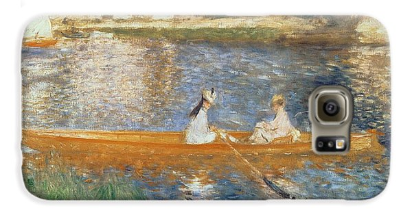 Transportation Galaxy S6 Case - Boating On The Seine by Pierre Auguste Renoir