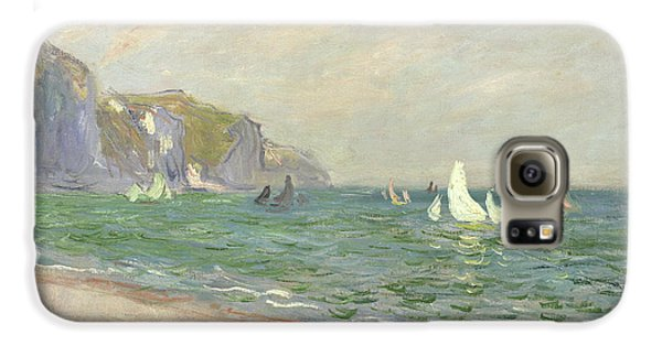Boat Galaxy S6 Case - Boats Below The Cliffs At Pourville by Claude Monet