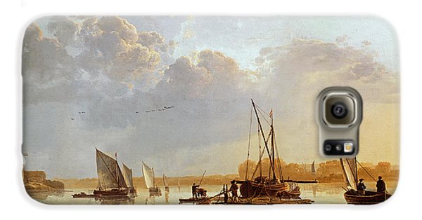 Boat Galaxy S6 Case - Boats On A River by Aelbert Cuyp