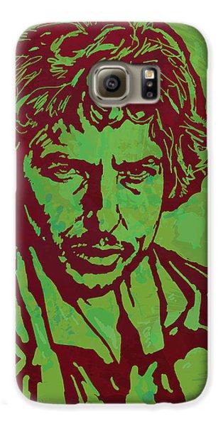 Bob Dylan Pop Art Poser Galaxy S6 Case by Kim Wang