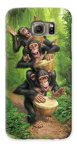 Drum Galaxy S6 Case - Bongo In The Jungle by Mark Fredrickson
