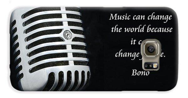 Bono On Music Galaxy S6 Case by Paul Ward