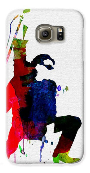 Jazz Galaxy S6 Case - Bono Watercolor by Naxart Studio