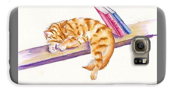 Cat Galaxy S6 Case - Bookend by Debra Hall