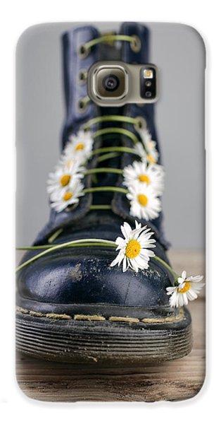Daisy Galaxy S6 Case - Boots With Daisy Flowers by Nailia Schwarz