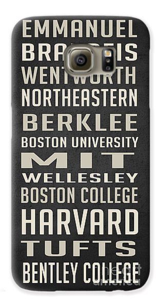Boston Colleges Poster Galaxy S6 Case by Edward Fielding