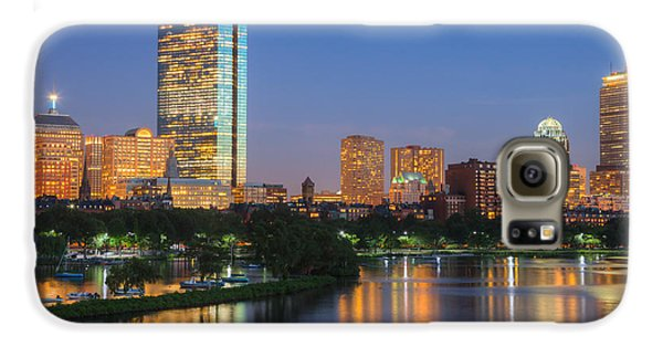 Boston Night Skyline II Galaxy S6 Case