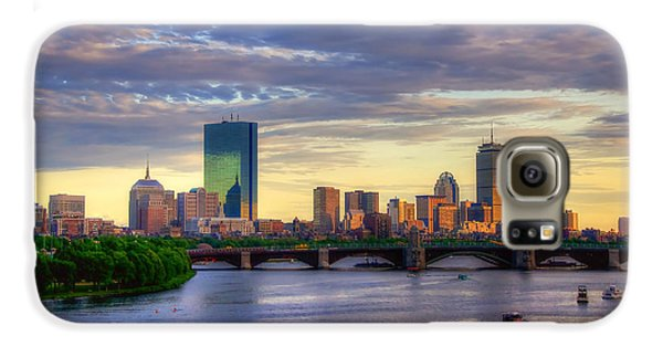 Duck Galaxy S6 Case - Boston Skyline Sunset Over Back Bay by Joann Vitali