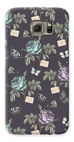 Botanical Roses Galaxy S6 Case by Stephanie Davies
