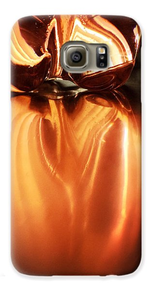 Bottle Reflection - Abstract Colorful Art Square Format Galaxy S6 Case