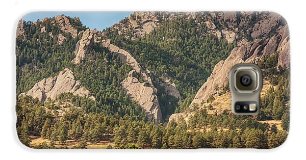 Galaxy S6 Case featuring the photograph Boulder Colorado Rocky Mountain Foothills by James BO Insogna