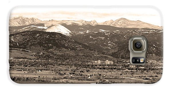 Boulder Colorado Sepia Panorama Poster Print Galaxy S6 Case by James BO  Insogna