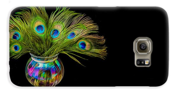Galaxy S6 Case featuring the photograph Bouquet Of Peacock by Rikk Flohr