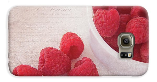Bowl Of Red Raspberries Galaxy S6 Case