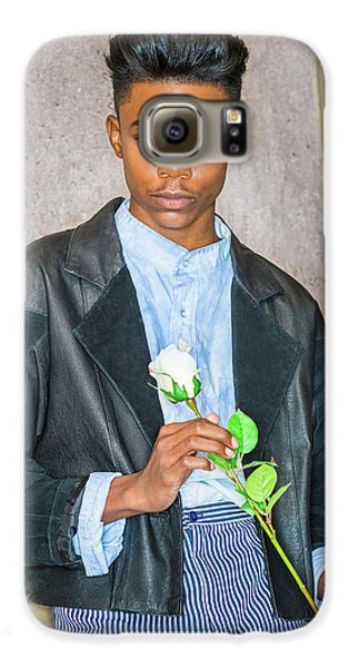 Boy With White Rose 15042618 Galaxy S6 Case