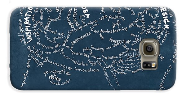 Doctor Galaxy S6 Case - Brain Drawing On Chalkboard by Setsiri Silapasuwanchai