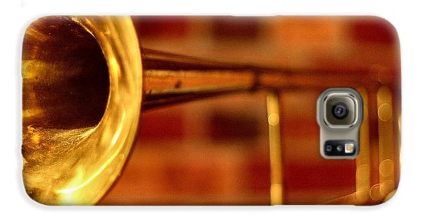 Trombone Galaxy S6 Case - Brass Trombone by David  Hubbs