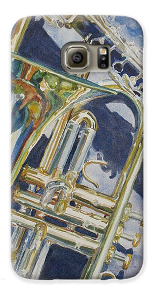 Trombone Galaxy S6 Case - Brass Winds And Shadow by Jenny Armitage