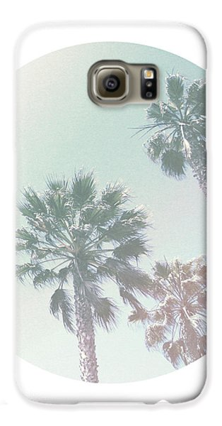 Santa Monica Galaxy S6 Case - Breezy Palm Trees- Art By Linda Woods by Linda Woods
