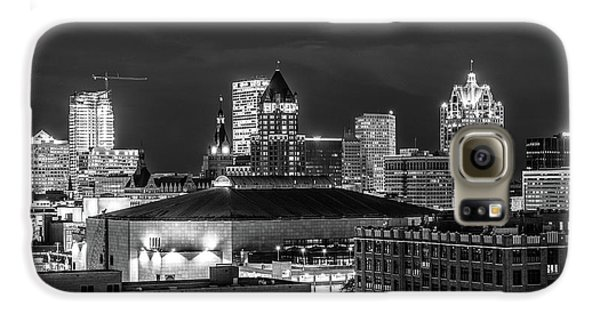 Galaxy S6 Case featuring the photograph Brew City At Night by Randy Scherkenbach