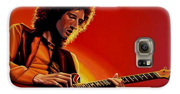 Brian May Of Queen Painting Galaxy S6 Case