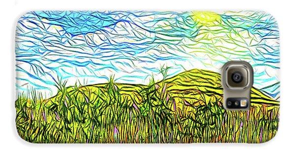 Bright Sky Summer - Field In Boulder County Colorado Galaxy S6 Case