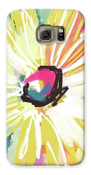 Daisy Galaxy S6 Case - Bright Yellow Flower- Art By Linda Woods by Linda Woods