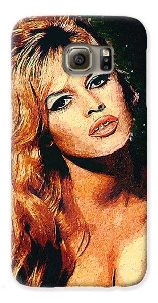 Brigitte Bardot Galaxy S6 Case by Taylan Apukovska