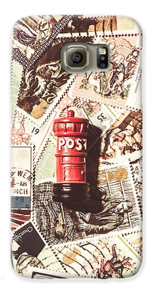 Galaxy S6 Case featuring the photograph British Post Box by Jorgo Photography - Wall Art Gallery