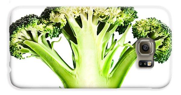 Broccoli Cutaway On White Galaxy S6 Case by Johan Swanepoel